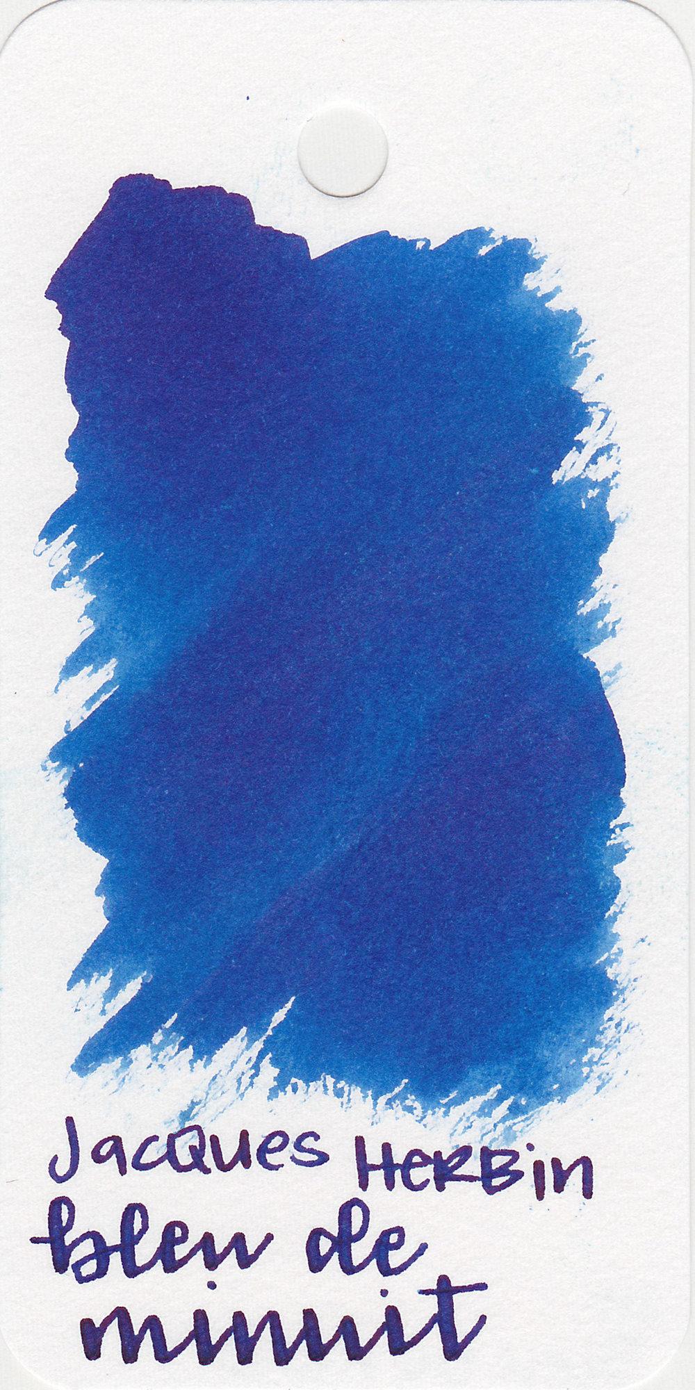 The color: - Bleu de Minuit is a pretty, medium blue.