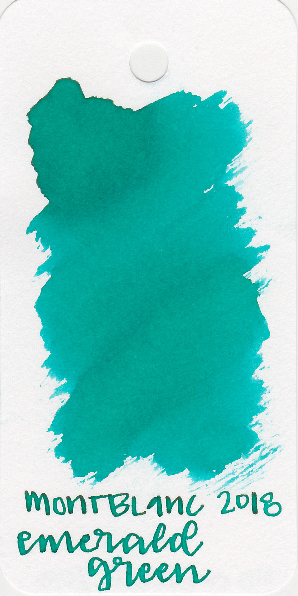 The color: - Emerald Green is a very pretty medium teal.