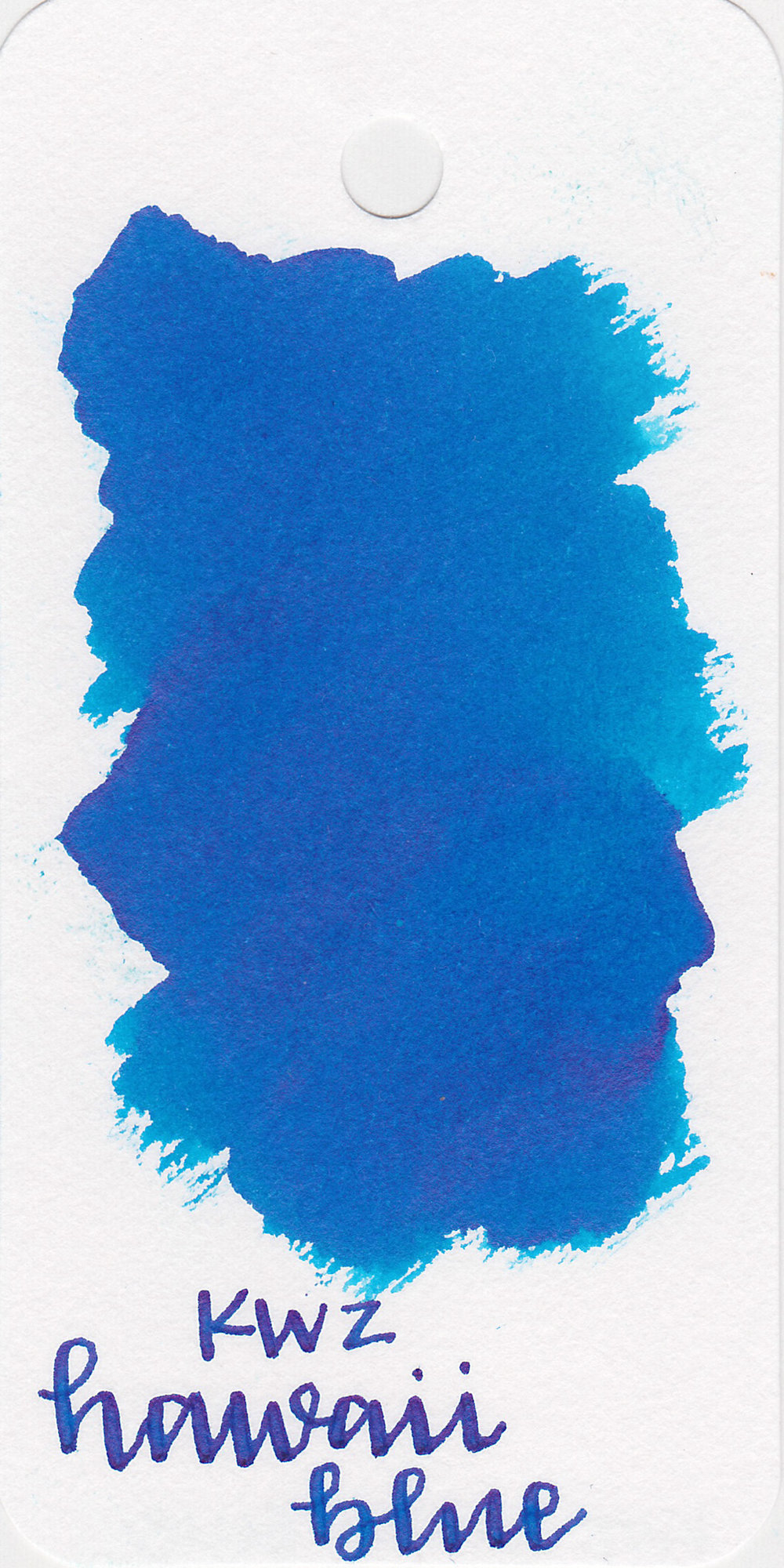The color: - Hawaii Blue is a pretty medium blue.