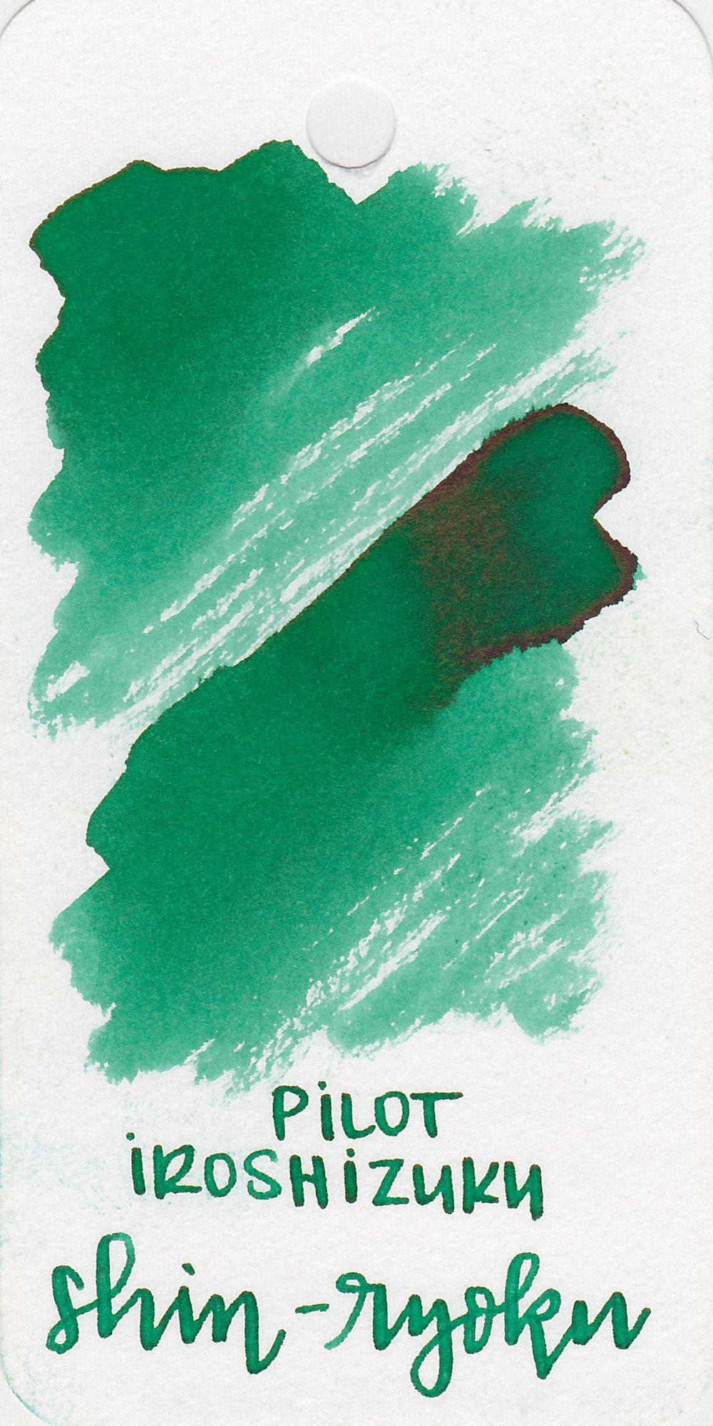 The color: - Shin-ryoku is a pretty medium green.