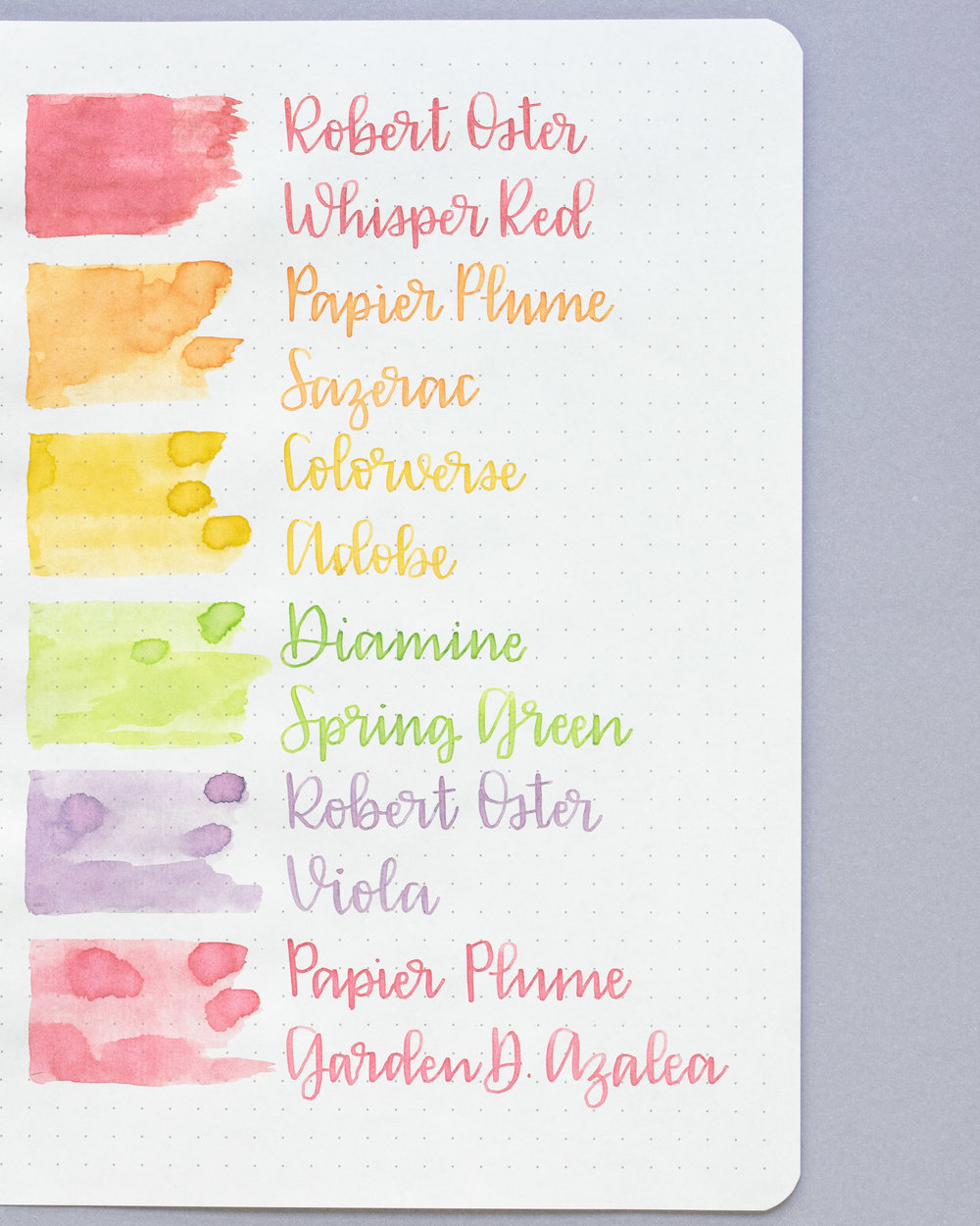 Pastels - This first one is perfect for Easter-pastel colors but still readable.
