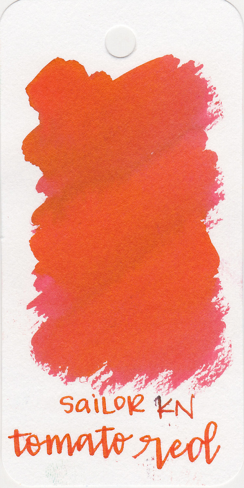 The color: - Tomato Red is a vibrant cheerful red.