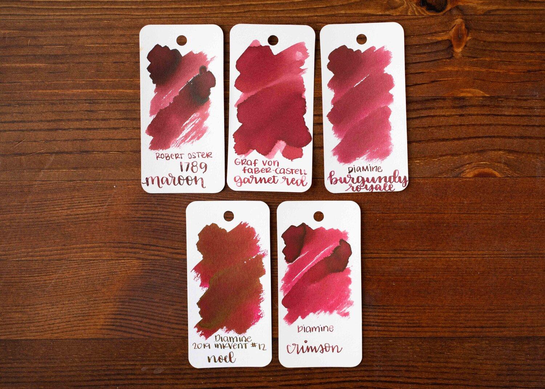Garnet Red FC141105 Box of 6 Graf von Faber-Castell Ink Cartridges