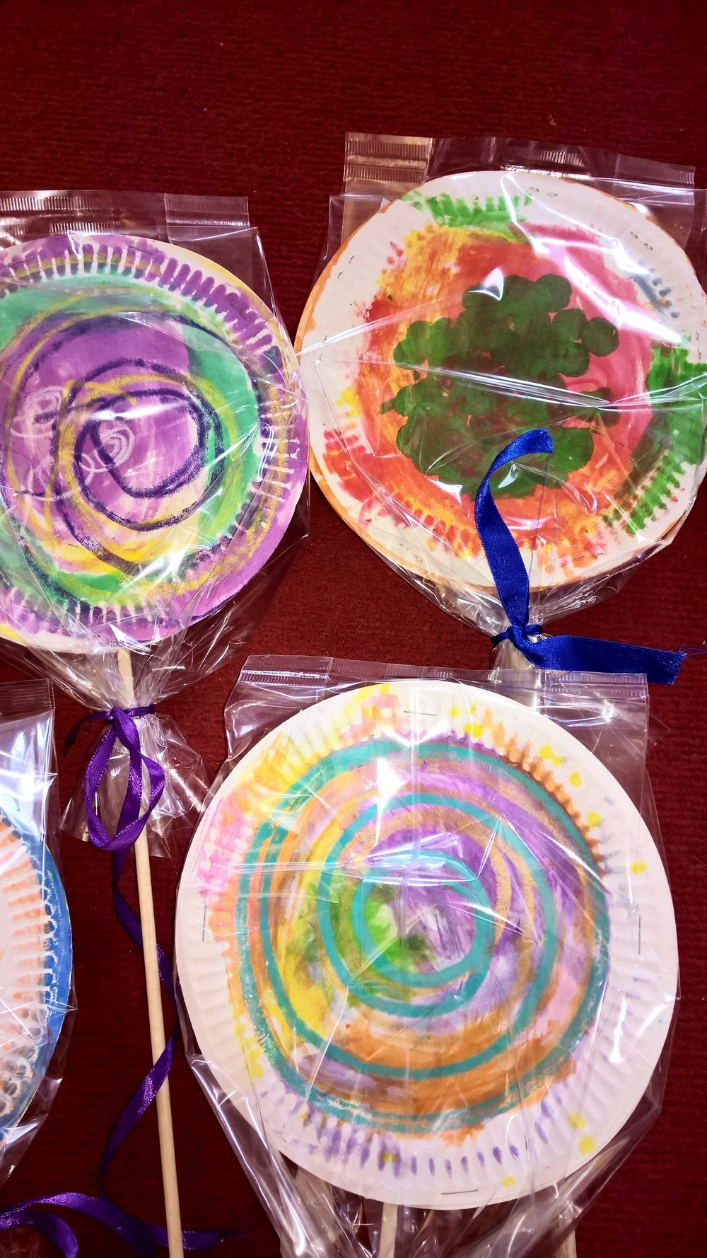 Lollies made at Low Hall nursery