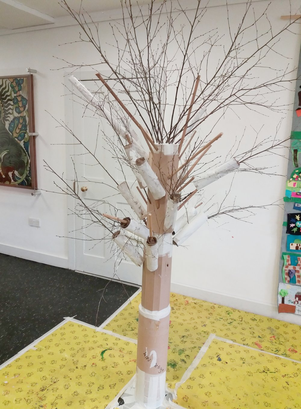 Our tree made at March Creative kids, learning about Gayle Chong Kwan's 'People's  forest' exhibition.