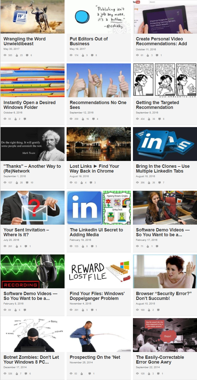 LinkedIn Pulse article author and publisher