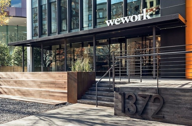 A WeWork site at 1372 Peachtree St. NE in Atlanta. Credit: Lincoln Property Co.