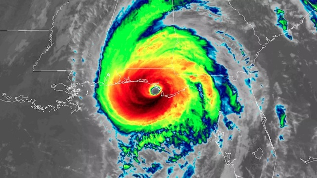 Hurricane Michael when it made landfall on Wednesday. Credit: NOAA/CIRA/RAMMB