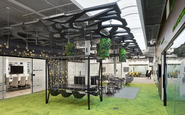 L'Oreal workspace designed to boost collaboration gives a glimpse of the office of the future.