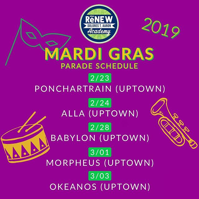 We can't wait 🎭  #renewschools #nola #mardigras #dtaband