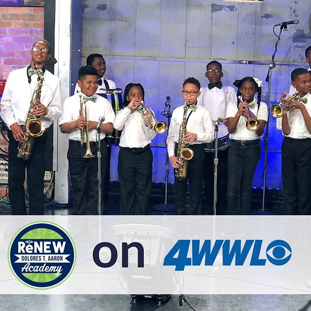Our DTA 'Young Heroes' Brass Band represented us beautifully on @wwltv and @wwoz_neworleans this morning! 🥁🎺🎷 The DTA Spring Concert is set for tomorrow (Wednesday) at 6:30 PM! #renewschools #nola #nolaed