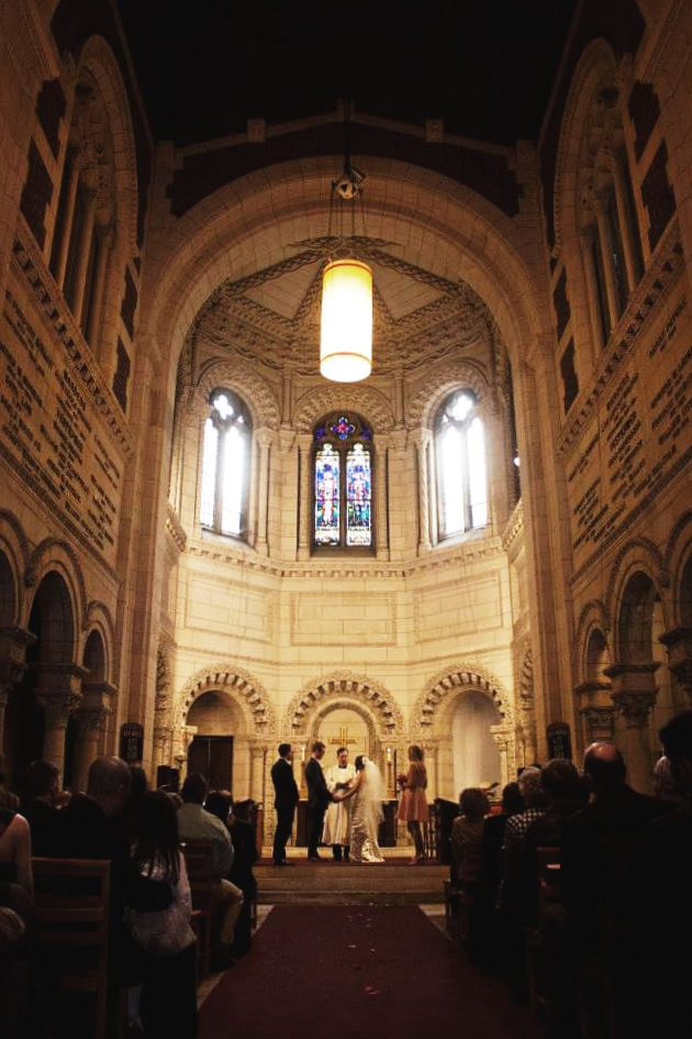 A wedding in the Chapel of St. George's at 4 Rutherford Place.
