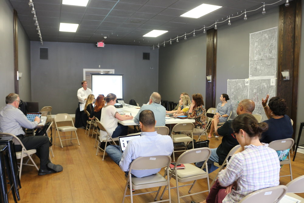 Community members at the Historic Preservation technical meeting discussed ways to promote the diverse history of Thomasville.