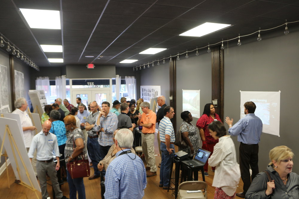 Community members filled the room at the Open House on September 21 to see concepts and ideas for the Thomasville Comprehensive Plan.