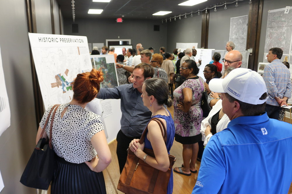 Different stations were set up to gather feedback on the direction of the future vision for Thomasville.