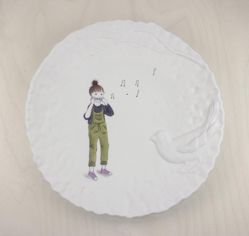 15.Jenn.DemkeLange.HowToTalkToBirds.Porcelain,decals.11x11x2.jpg