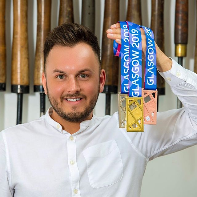 So after much anticipation... the cats out the bag. I'm so honoured to be have selected to design the medals for the upcoming European Indoor Athletics Championships. To be given this opportunity this early in my career is more than I could have imagined. To mark this moment in time in these athletes careers has been such a fulfilling experience and I can't wait to see them being presented on the podium. 🥇 @europeanathletics #afsilversmith #silversmithing #glasgowmaker #europeanindoorathletics