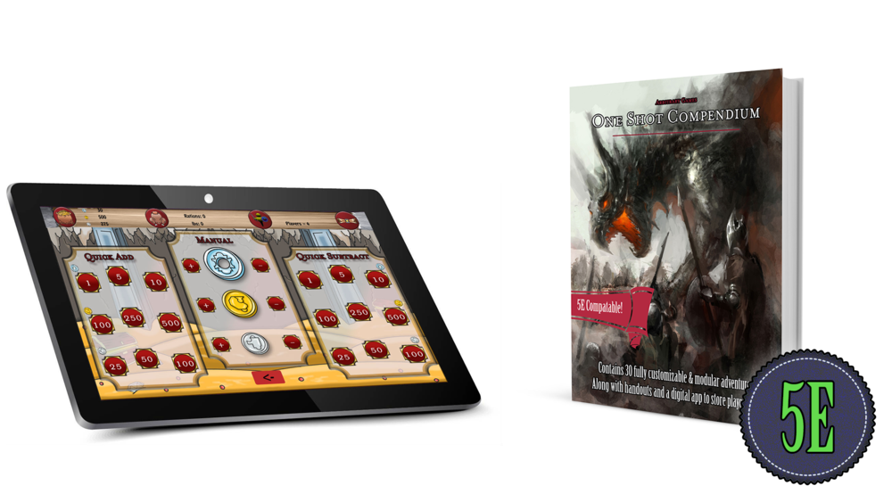 Hybrid Physical & Digital Content - 30 Fully Customizable One Shot Adventures