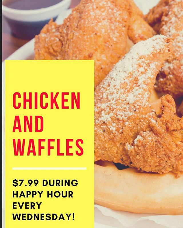 Our favorite day of the week! Why? Because Chicken and Waffles are $7.99 ! • #cbusfoodscene #614eats #topcolumbusrestaurants #columbusgrub #chickenandwaffles #eddyschickenandwaffles #columbusfoodscene