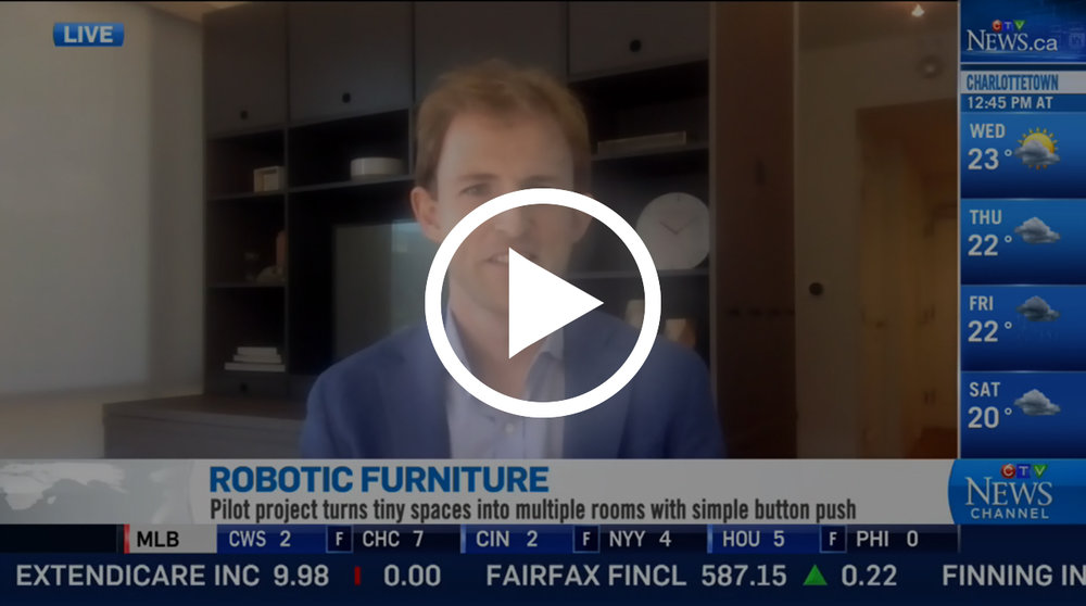 CTV: Live Interview with Ori CEO, Hasier Larrea   Ori Systems CEO, Hasier Larrea, interivewed by CTV, Canada's #1 television network in a 2-minute interview talking about the future of urban living and how Ori can turn tiny spaces into muliptle rooms with a simple touch of a button.
