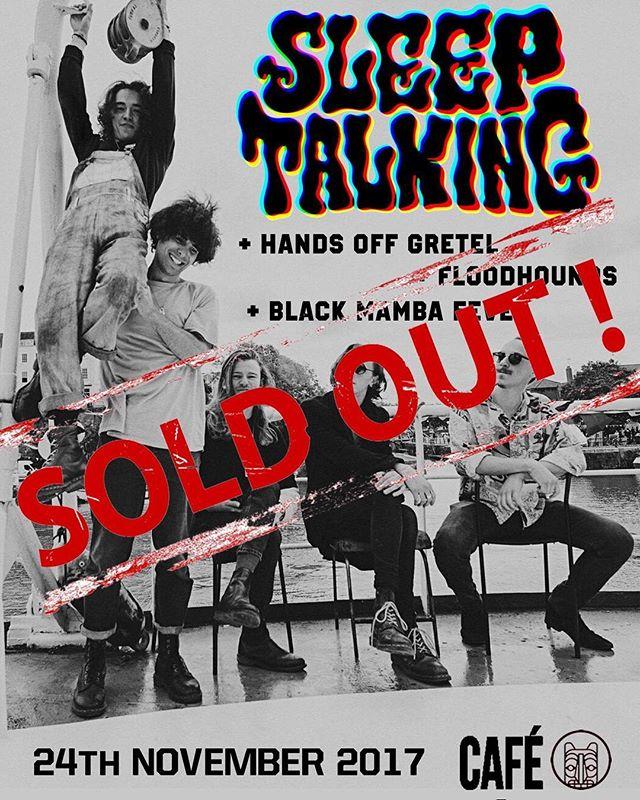 ✨⚡️Looking forward to @cafetotem tonight! ✨⚡️@handsoffgretel @floodhounds @blackmambafever . . . . . #soldout #sheffield #tour #sssleeptalking
