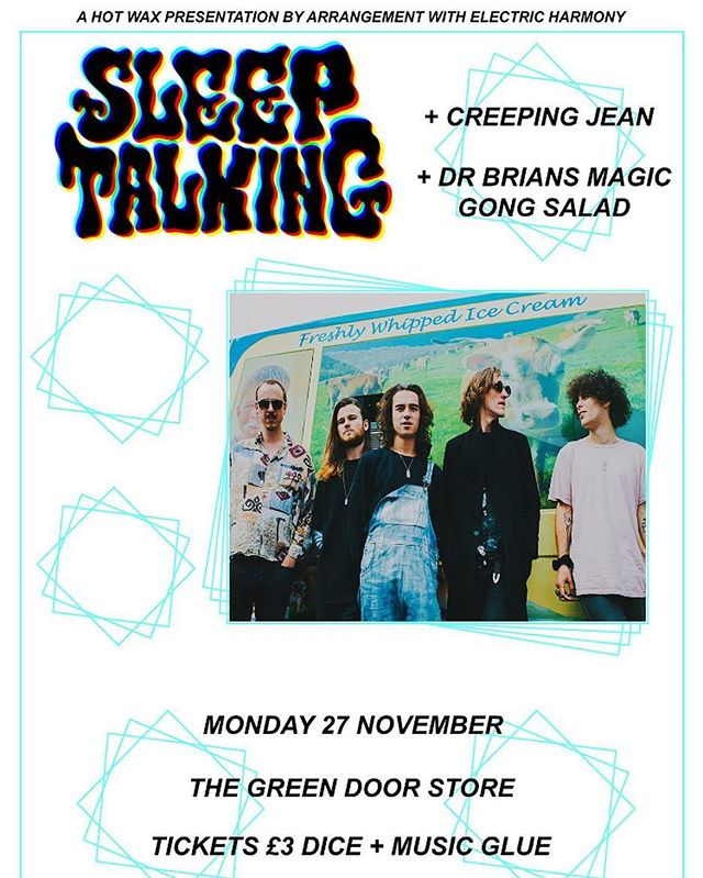 ⚡️✨@greendoorstore tonight with @creepingjeanband & #drbriansmagicgongsalad . . . . . . #brighton #giglife #brightongigs #monday #hotwax @hotwax.promotions #giglife