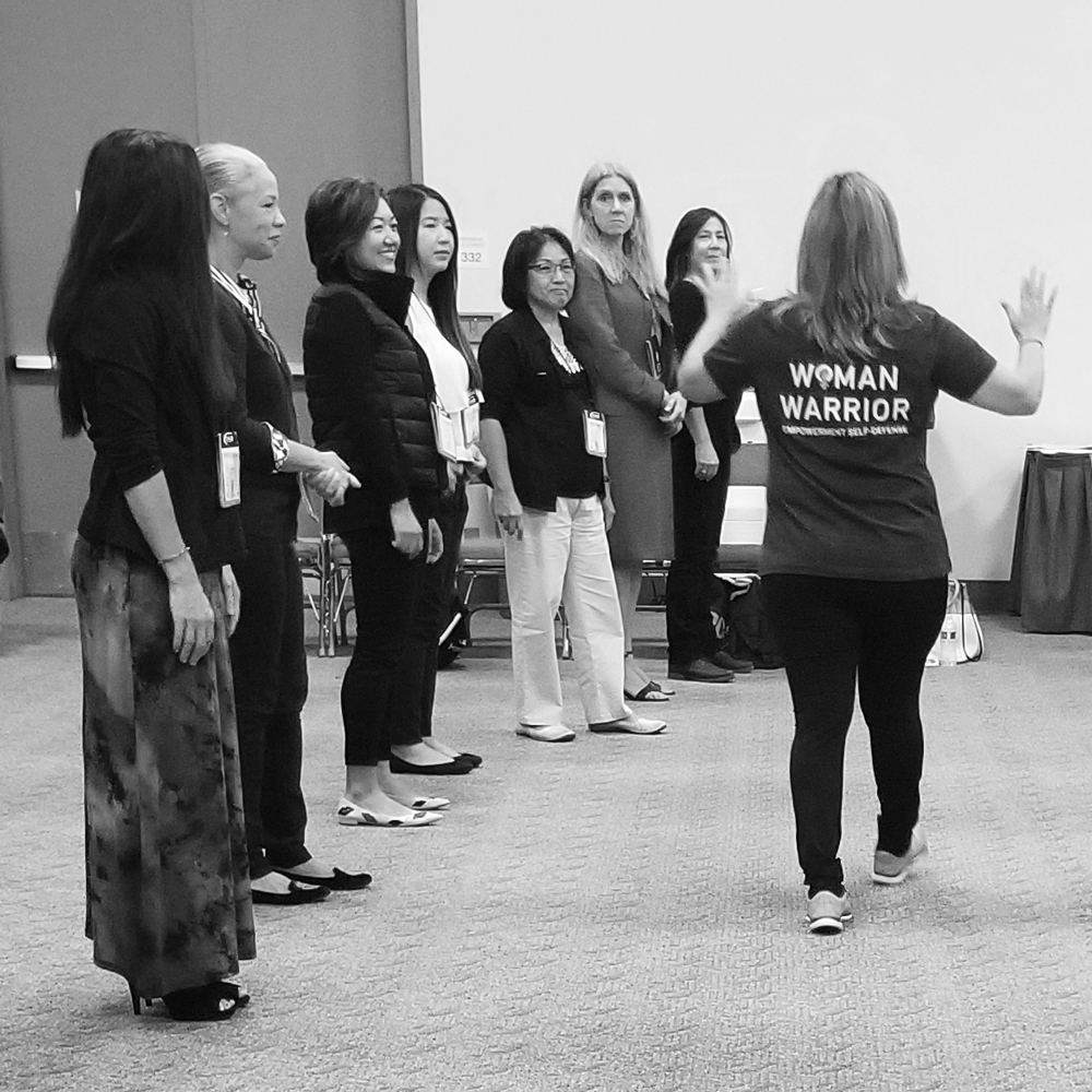 POV's Chief Program Officer, Yvette Lozano, teaches an Empowerment Self-Defense workshop at the California Association of Realtors Conference