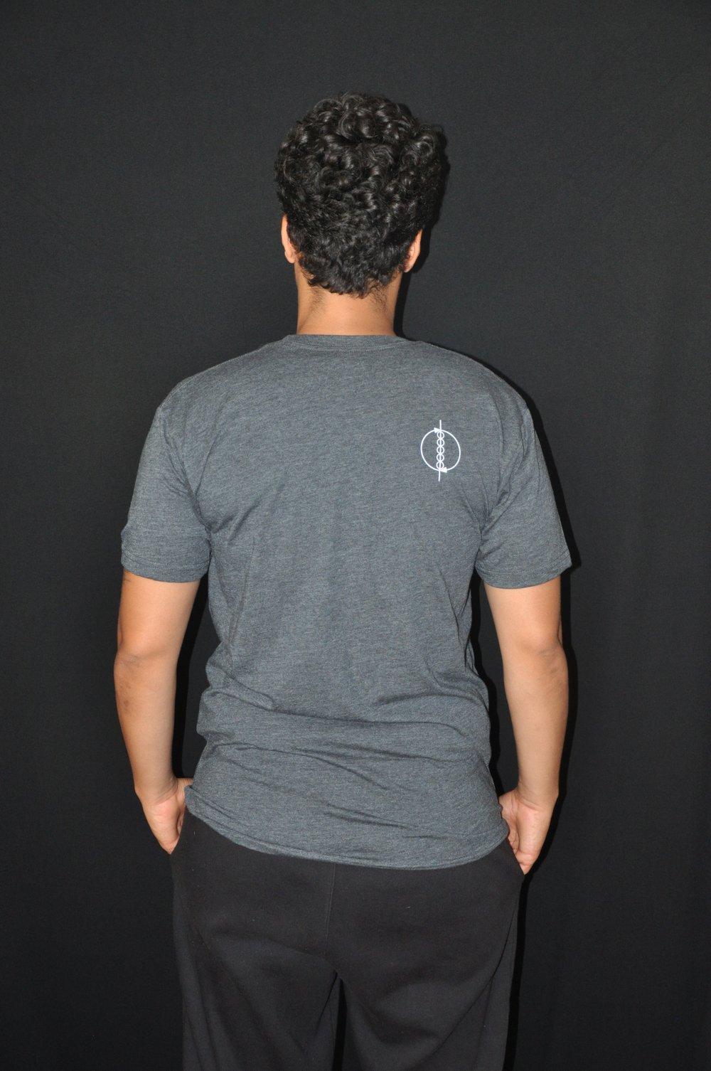Back cursive T gray
