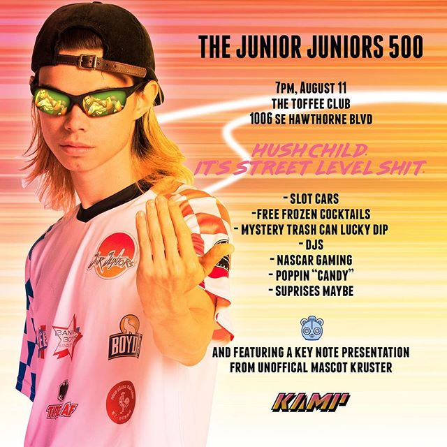 You'd have to be a real chucklehead to miss this street level shit. 🔥🔥🔥 The Junior Juniors 500, this Friday at @toffeeclubpdx ☠️☠️☠️ #makefootballweird #toffeeleague #madetomention