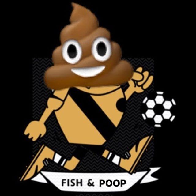 Trashy trash talk continues. @evergreen_fc_pdx vs @fishandchipsfc 🐟💩🤣 #makefootballweird #toffeeleague #fishandpoop
