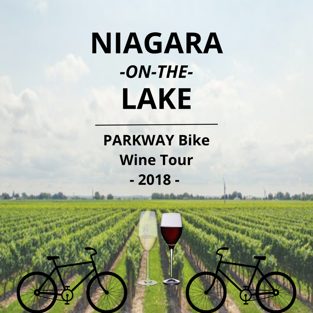 $119 FOR AN EXCLUSIVE NIAGARA ON THE LAKE BIKE WINE TOUR FOR 2 PEOPLE - PARKWAY ROUTE  - Enjoy sipping award winning wine from 3 of the most prestigious Niagara on the Lake Wineries. Whether you are a red or a white wine lover, you will be sure to have your taste buds delighted while you take in the beautiful scenery of the Niagara on the Lake ParkwayThis tour is self-guided and it starts from Vino Velo in Niagara-on-the-Lake. This means that you get to experience Niagara on the Lake without anyone telling you what to do. Because who likes being told that they can't take a little stroll down a back road to do some sight-seeing? Pick up the bike form Vino Velo when you want and as long as its back before closing we don't have to know where your adventure took you. Unless you want to tell us about it, of-course!Marynissen and Frog Pond will be offering 3 select wine samples per person. Inniskillen will be offering 1 premium ice wine sample per person.Marynissen- 1208 Concession 1 Rd, Niagara-on-the-Lake, ON L0S 1J0Frog Pond- 1385 Larkin Rd, Niagara-on-the-Lake, ON L0S 1J0Inniskillen- 1499 Line 3, Niagara-on-the-Lake, ON L0S 1J0