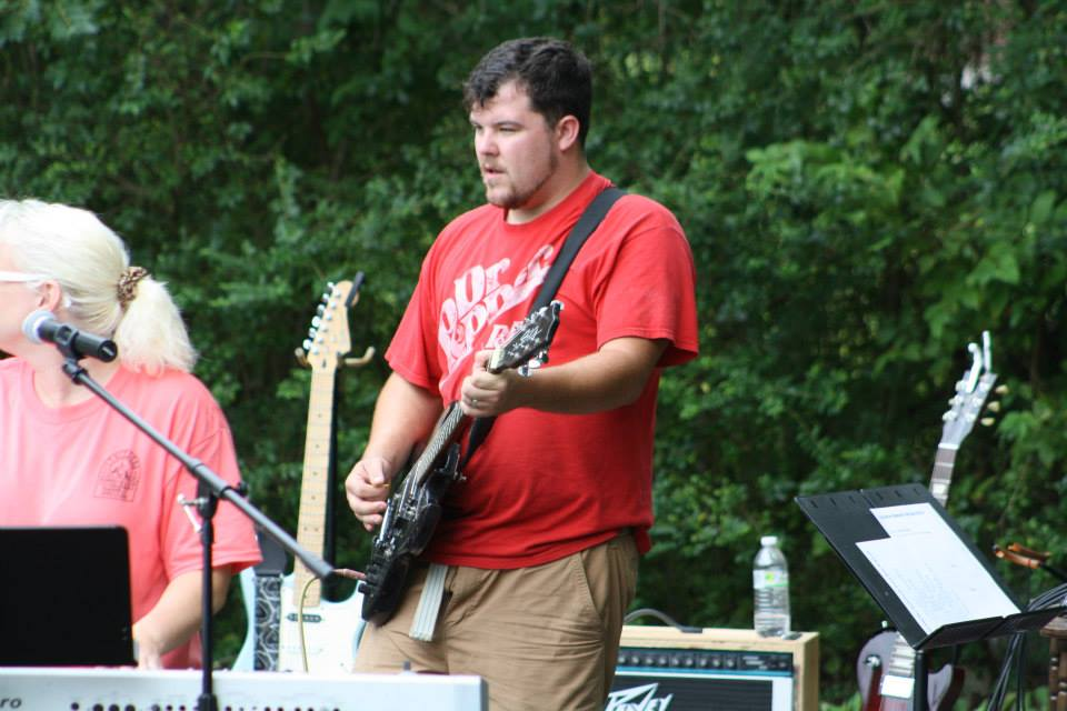 Lucas Jobe   Lucas is the Auxiliary guitar player for the team, bringing any series of watery, sweeping melodies to whatever song the team is playing; making it undoubtedly their own. He plays an Epiphone Les Paul Custom through a Mesa Boogie Quad pre-amp & Fifty:50 power amp.