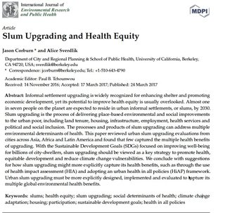 Slum Upgrading and Health Equity