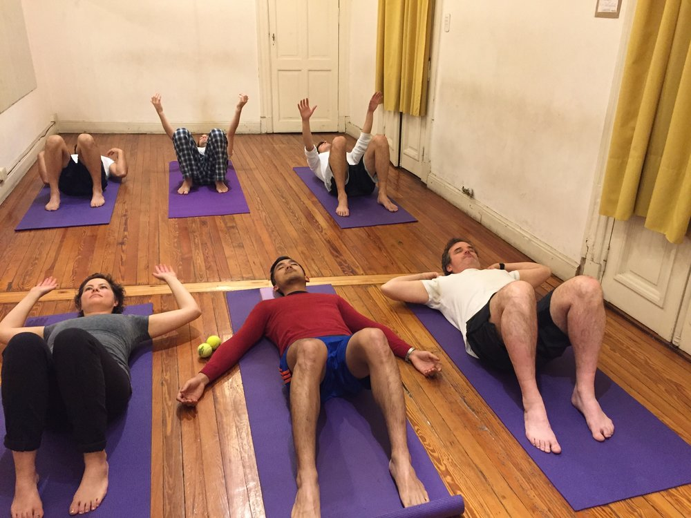 Yin Yoga - Weds in Palermo and THurs in San Telmo are Yin classes. Wed is solely a yin class, and thurs is Yin with myofascial release. Both classes sequence long held poses, providing ample time for the breath to encourage release.