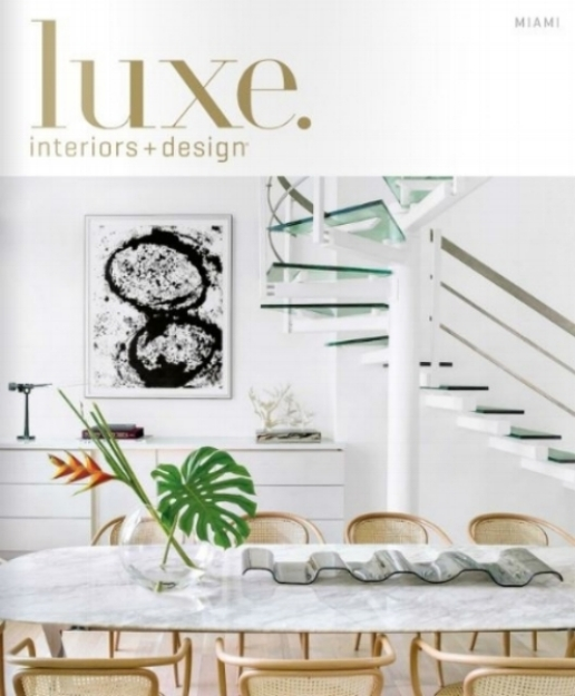 Luxe Magazine. November 2015.  Artwork donated for Kid Sanctuary / Sire Design.