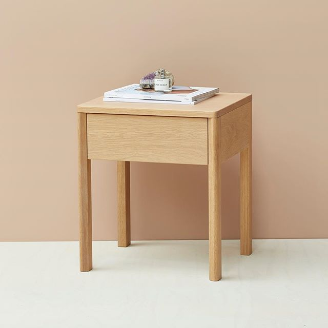 Single drawer oak bedside. A balance of considered simplicity and function. Made here in Melbourne. #nickpearcefurniture