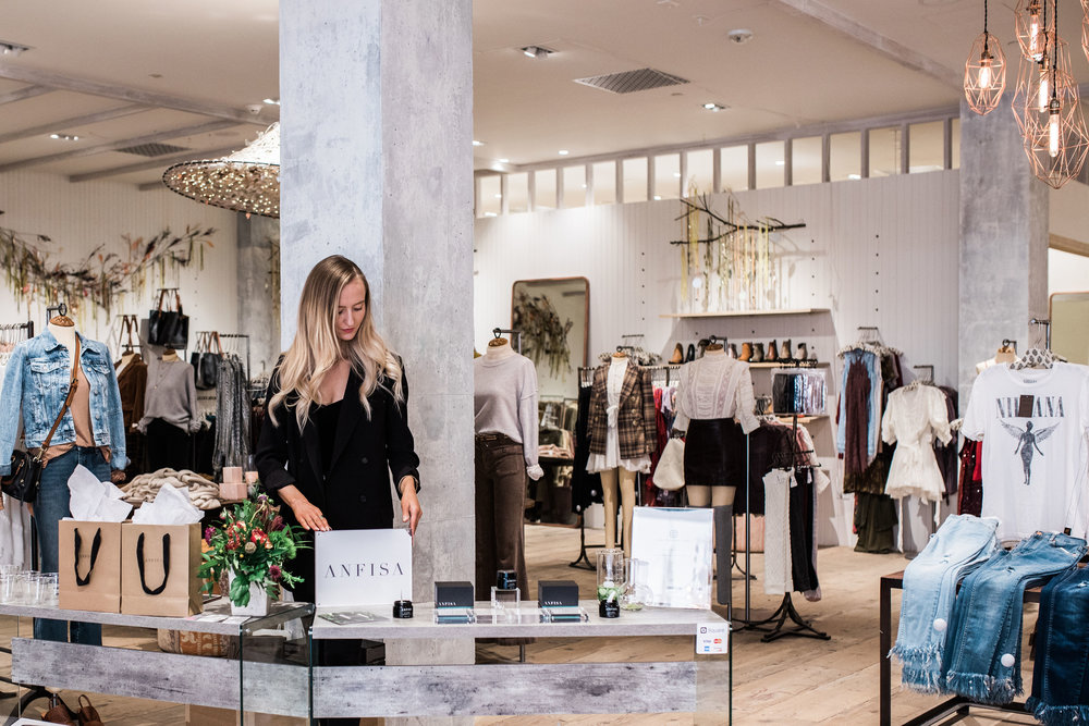 ANFISA POP-up EVENT at FREE PEOPLE -
