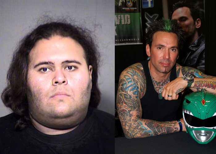 Matthew Sterling (left) (photo: Maricopa County Sheriff's Office) and Jason David Frank (right) (photo: 2013 Wizard World New York Experience)