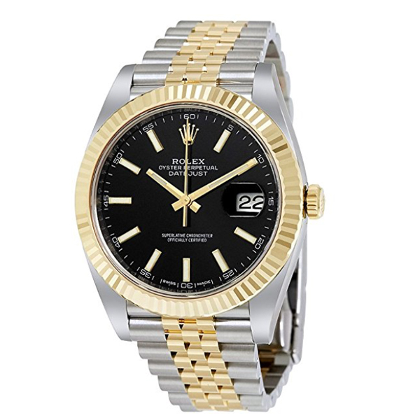 Rolex Datejust 41 Black Dial Steel and 18k Yellow Gold Jubilee   $11,925