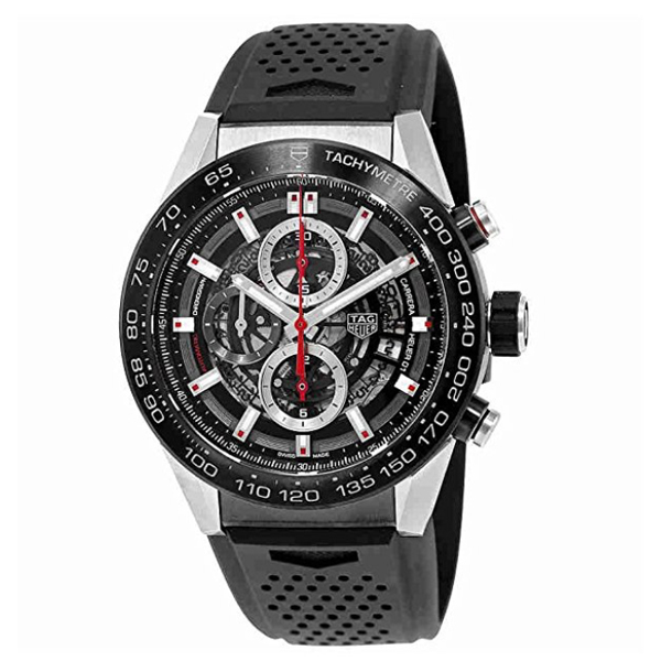 Tag Heuer Carrera Calibre Heuer 01 Automatic Skeleton Dial Watch   $4060