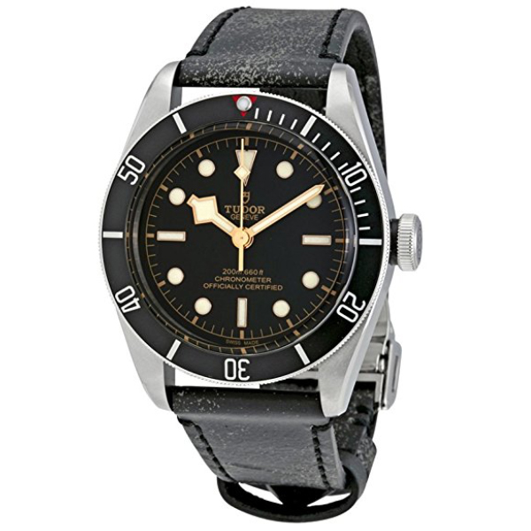 Tudor Heritage Black Bay Leather Automatic Watch  $2717