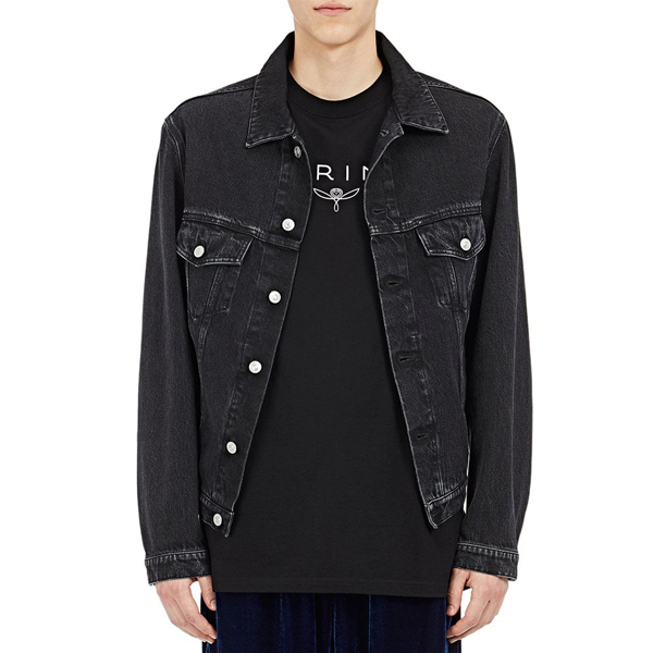 Balenciaga Wobble-Fit Denim Trucker Jacket   $850