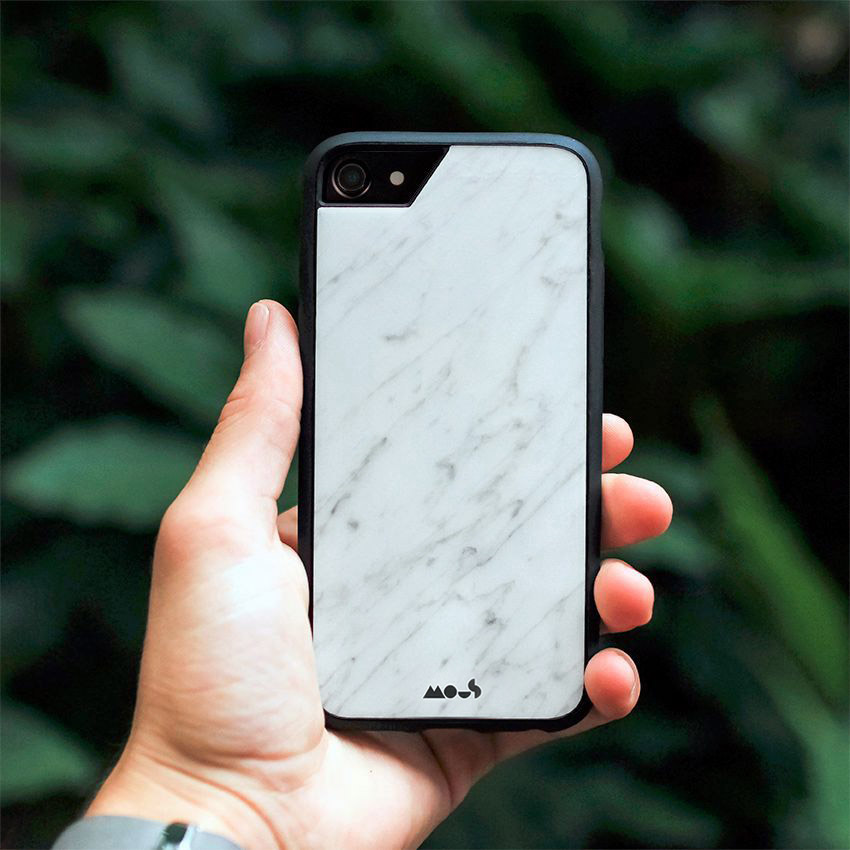 White Marble Mous Case Frillstash