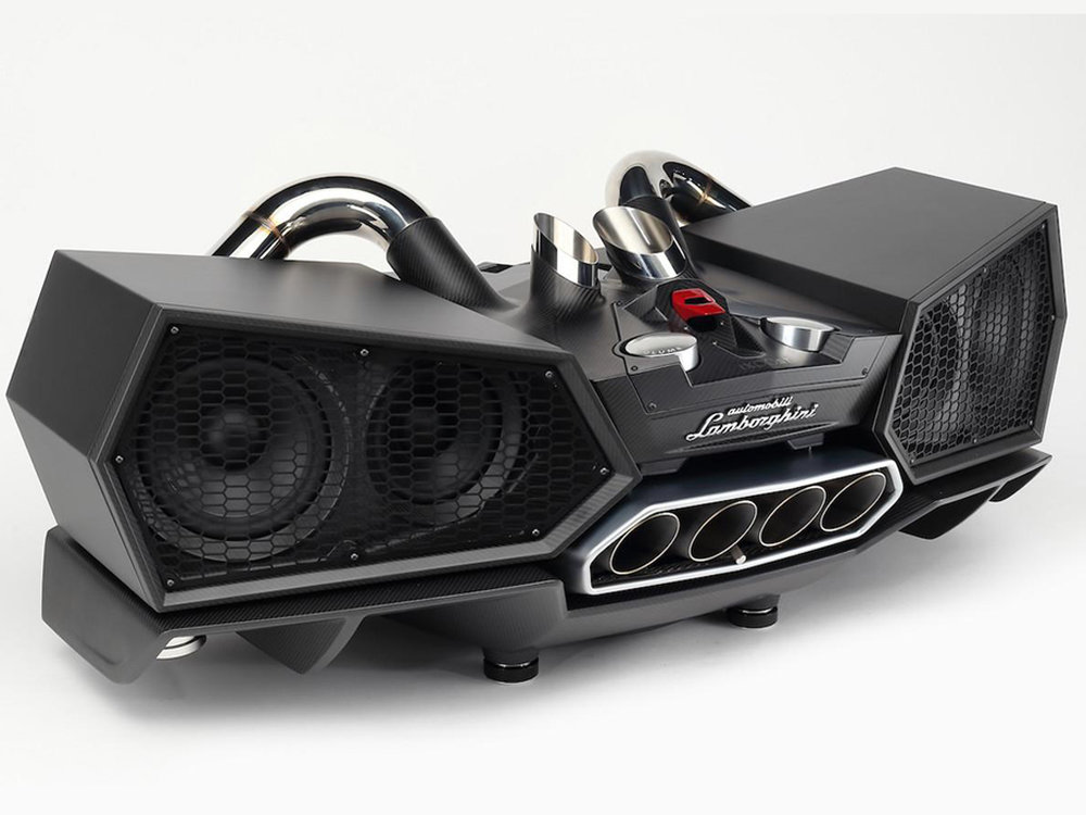 Esavox Carbon Fiber Lamborghini - The speakers that crafted with genuine Lamborghini parts designed by Lamborghini.
