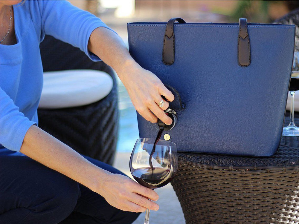 PortoVino Wine Purse - Bring your most-liked tipple wherever you go discreetly with PortoVino Wine Purse.