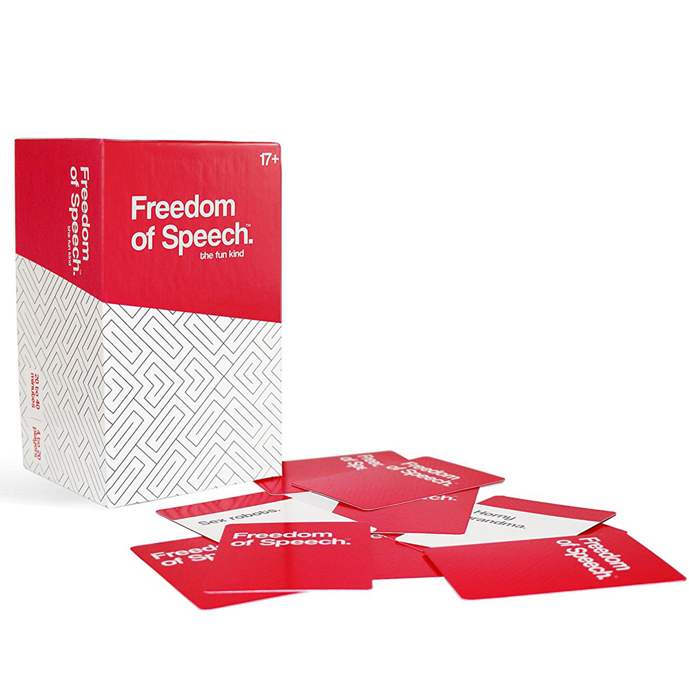 Freedom of Speech - This is one of the games that will surely make you laugh and think hard on how to describe the word that's been given without any action, rhyming or pointing. It comes with a timer to let your teammates guess before the time runs out.