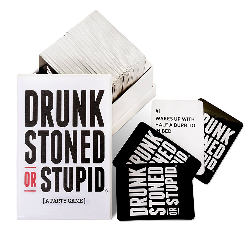 Drunk or Stupid - This card game may get real sometimes. As you point out the person who really fits the description of the card. Nevertheless this game will make you burst laughing.