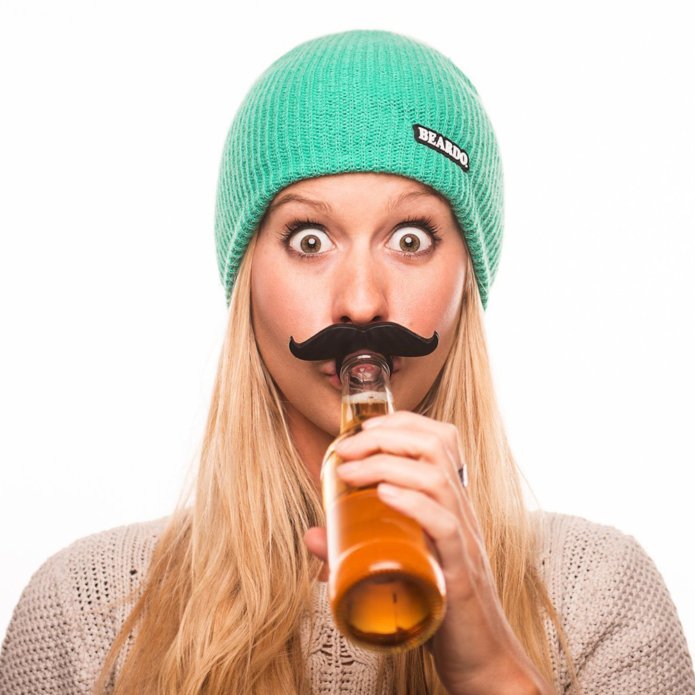 Beer Mustache - One funny accessory to attach to your bottle and to make sure nobody steals your drink.