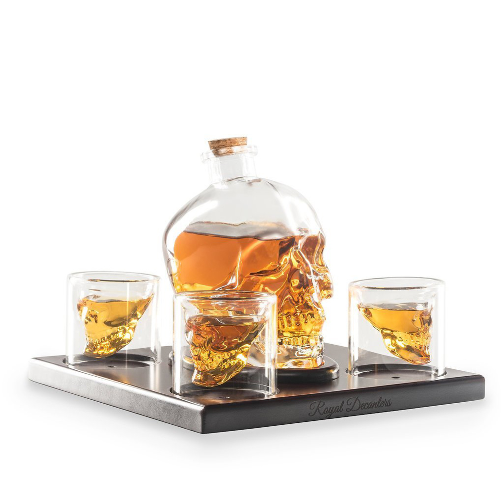 Skull Shaped Decanter - This eye-catching decanter can hold up 750ml of liquor. Serve your guest in the most stylish way you can.