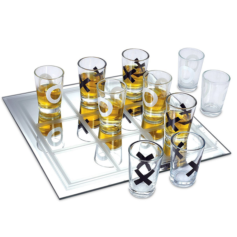 Tic Tac Toe Shots - This game is easy as 1, 2, 3. The loser drinks all.